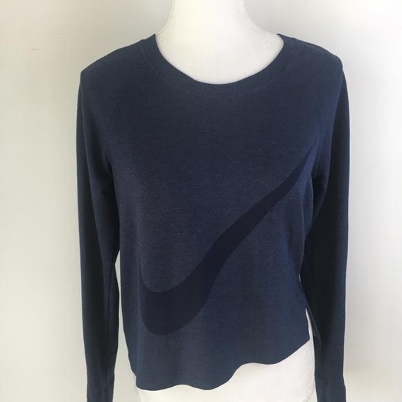 af357d19fce2 Nike Prep long sleeve big swoosh blue shirt top M.  M 5a3aaf2aa44dbee68004a467